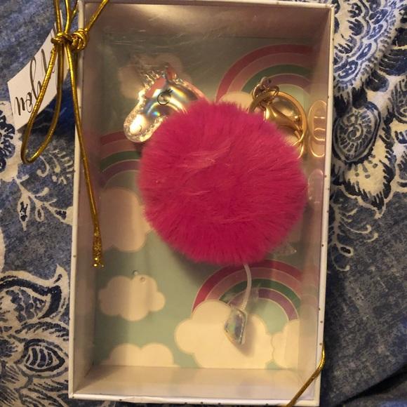 sheffield home Accessories - BN unicorn pompom key chain